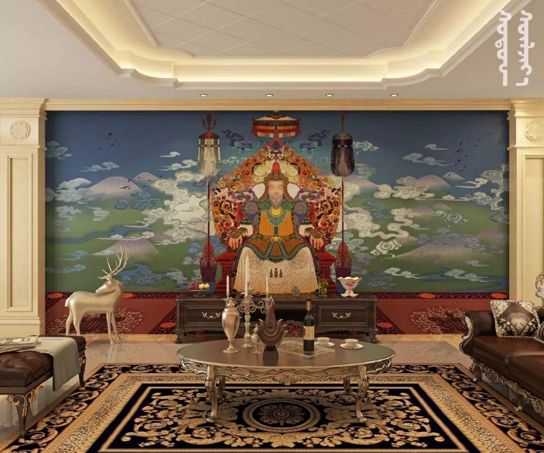 GOLOMT 原创手绘蒙古壁画系列,把草原装进家里
