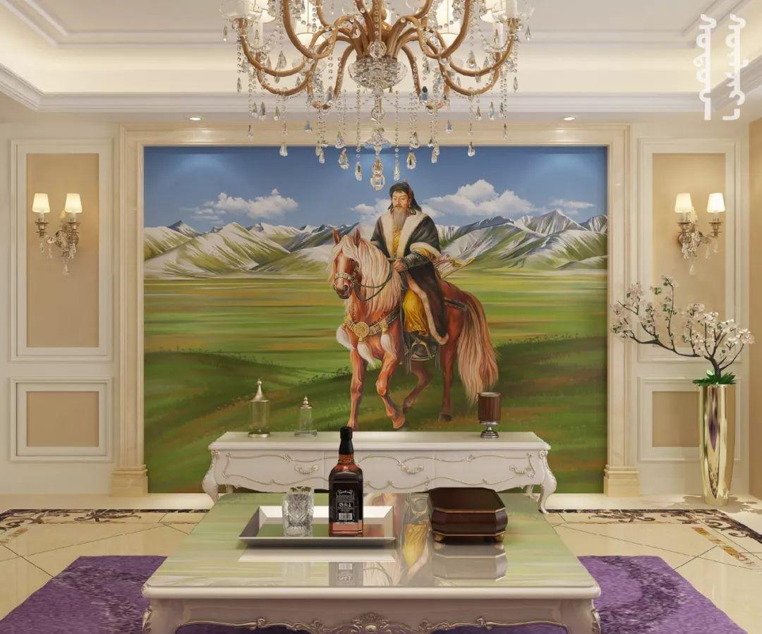 GOLOMT 原创手绘蒙古壁画系列,把草原装进家里 第3张 GOLOMT 原创手绘蒙古壁画系列,把草原装进家里 蒙古工艺