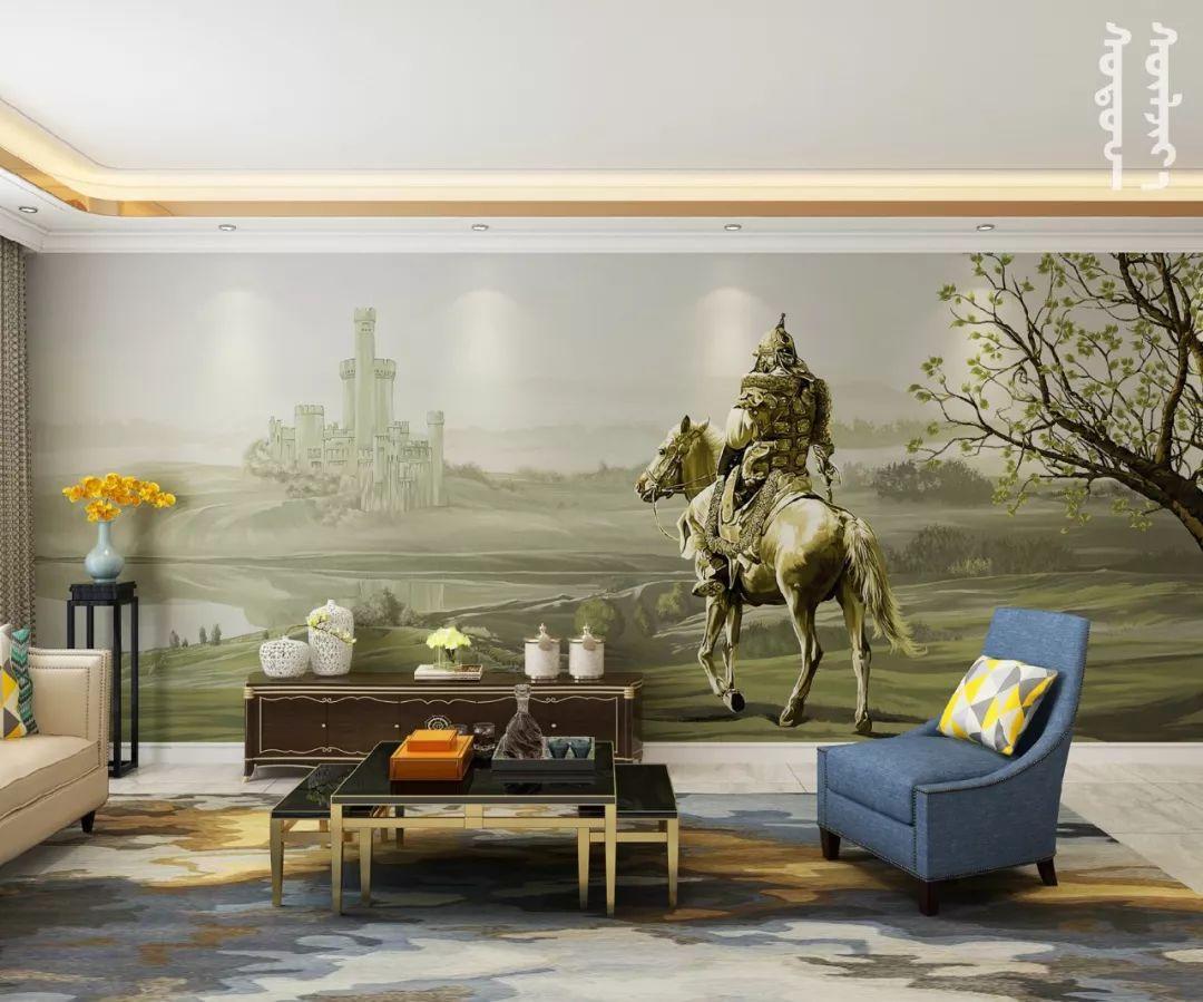 GOLOMT 原创手绘蒙古壁画系列,把草原装进家里 第6张 GOLOMT 原创手绘蒙古壁画系列,把草原装进家里 蒙古工艺