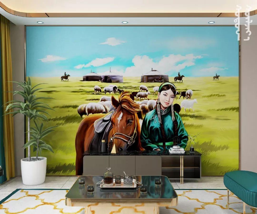 GOLOMT 原创手绘蒙古壁画系列,把草原装进家里 第11张 GOLOMT 原创手绘蒙古壁画系列,把草原装进家里 蒙古工艺