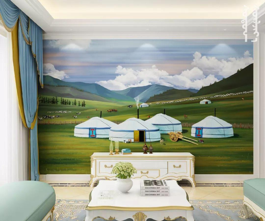 GOLOMT 原创手绘蒙古壁画系列,把草原装进家里 第13张 GOLOMT 原创手绘蒙古壁画系列,把草原装进家里 蒙古工艺