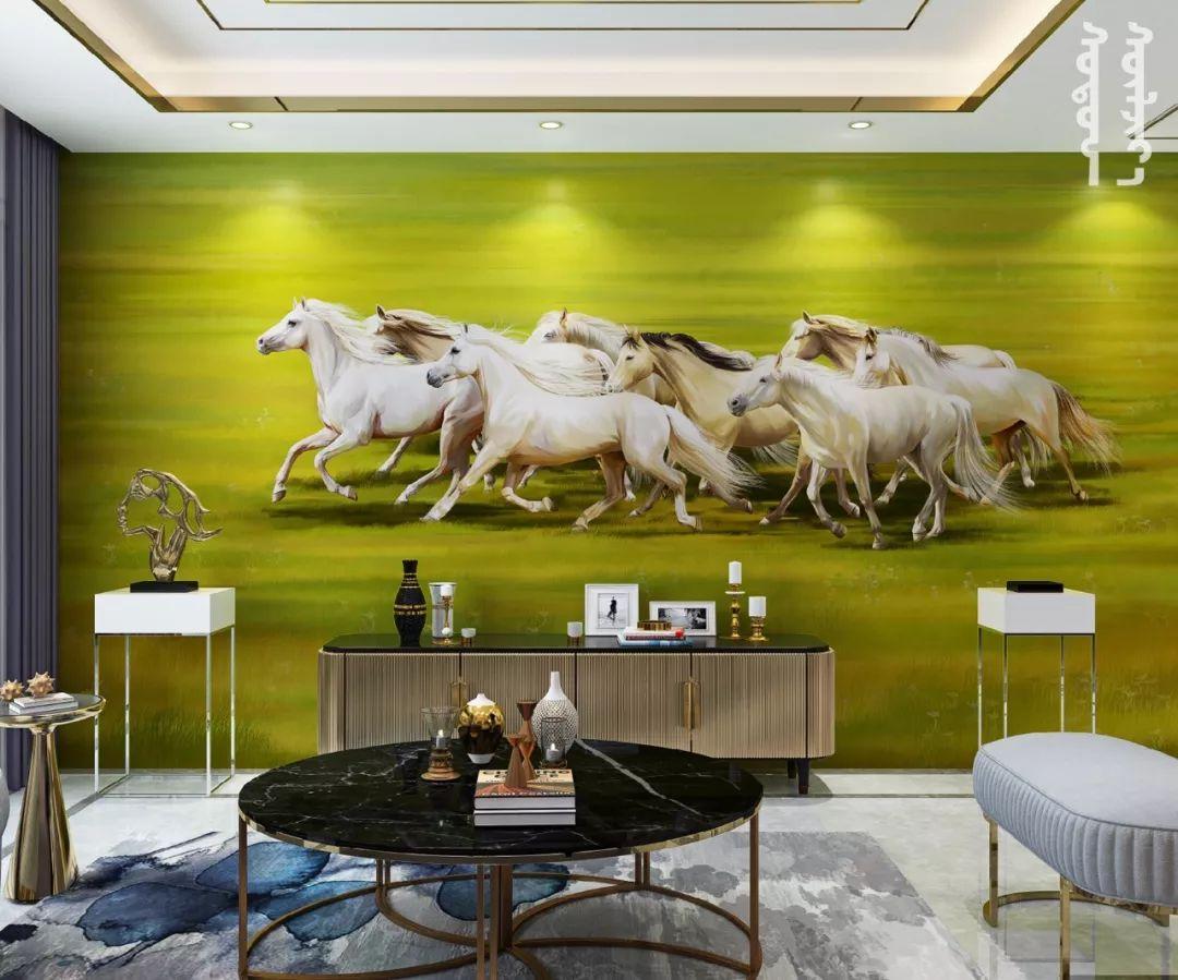 GOLOMT 原创手绘蒙古壁画系列,把草原装进家里 第16张 GOLOMT 原创手绘蒙古壁画系列,把草原装进家里 蒙古工艺
