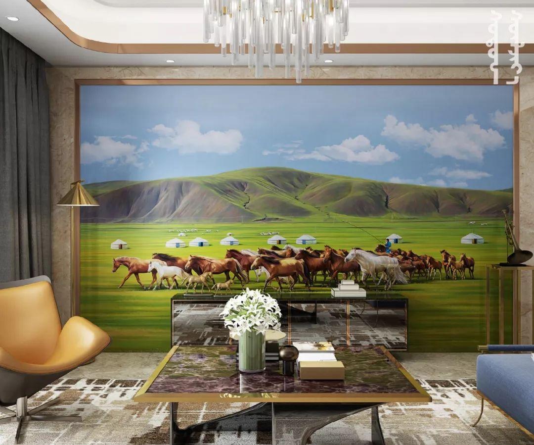 GOLOMT 原创手绘蒙古壁画系列,把草原装进家里 第17张 GOLOMT 原创手绘蒙古壁画系列,把草原装进家里 蒙古工艺