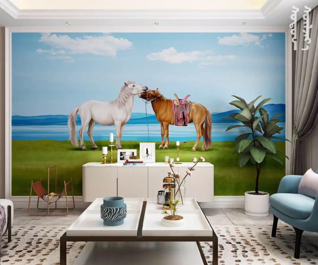 GOLOMT 原创手绘蒙古壁画系列,把草原装进家里 第20张 GOLOMT 原创手绘蒙古壁画系列,把草原装进家里 蒙古工艺