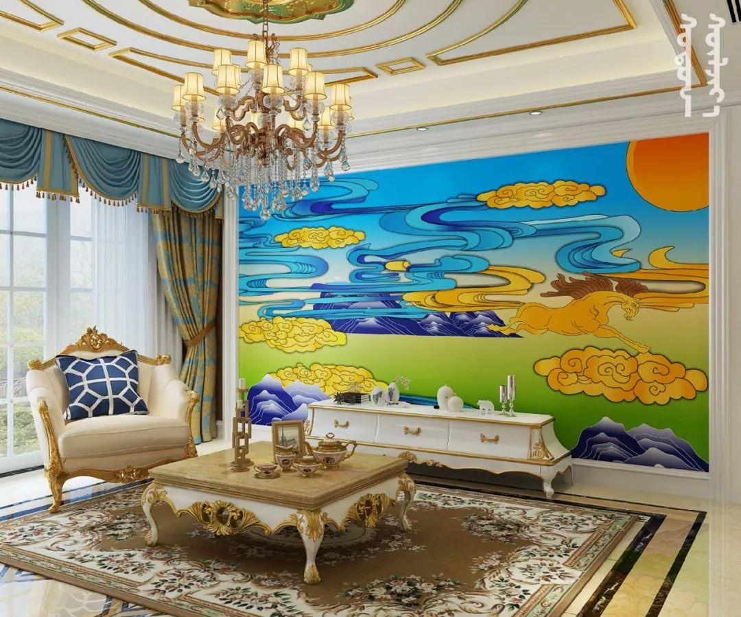 GOLOMT 原创手绘蒙古壁画系列,把草原装进家里 第24张 GOLOMT 原创手绘蒙古壁画系列,把草原装进家里 蒙古工艺