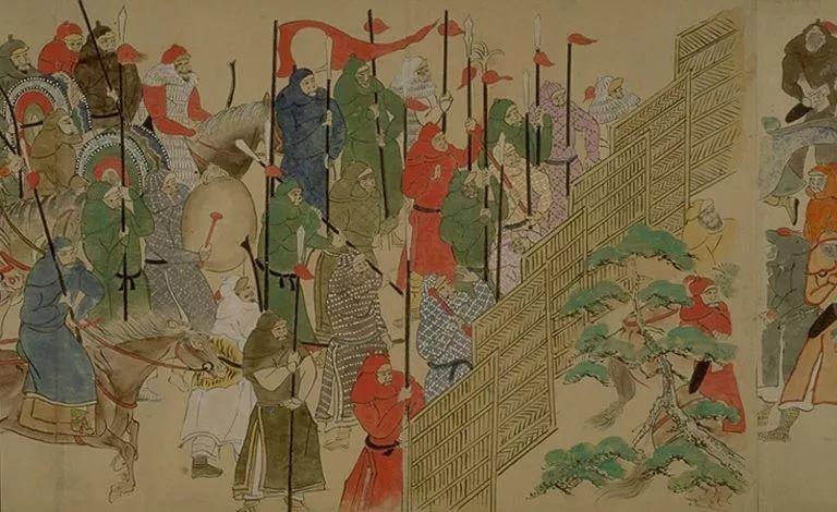 日本传世名画《蒙古袭来绘词》 第1张 日本传世名画《蒙古袭来绘词》 蒙古文化