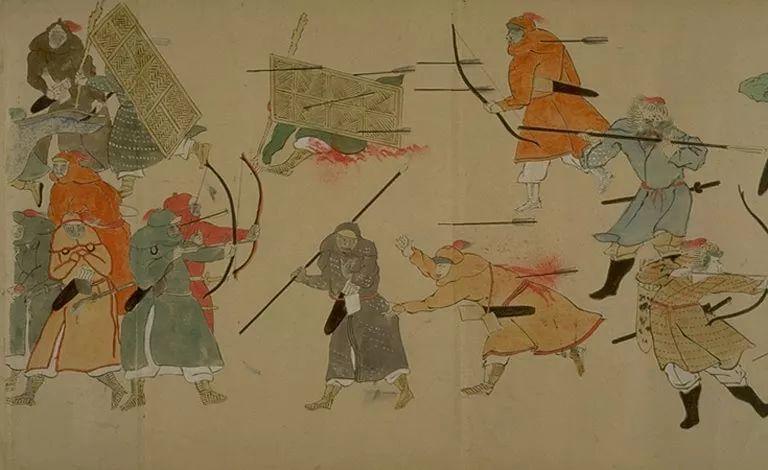日本传世名画《蒙古袭来绘词》 第4张 日本传世名画《蒙古袭来绘词》 蒙古文化