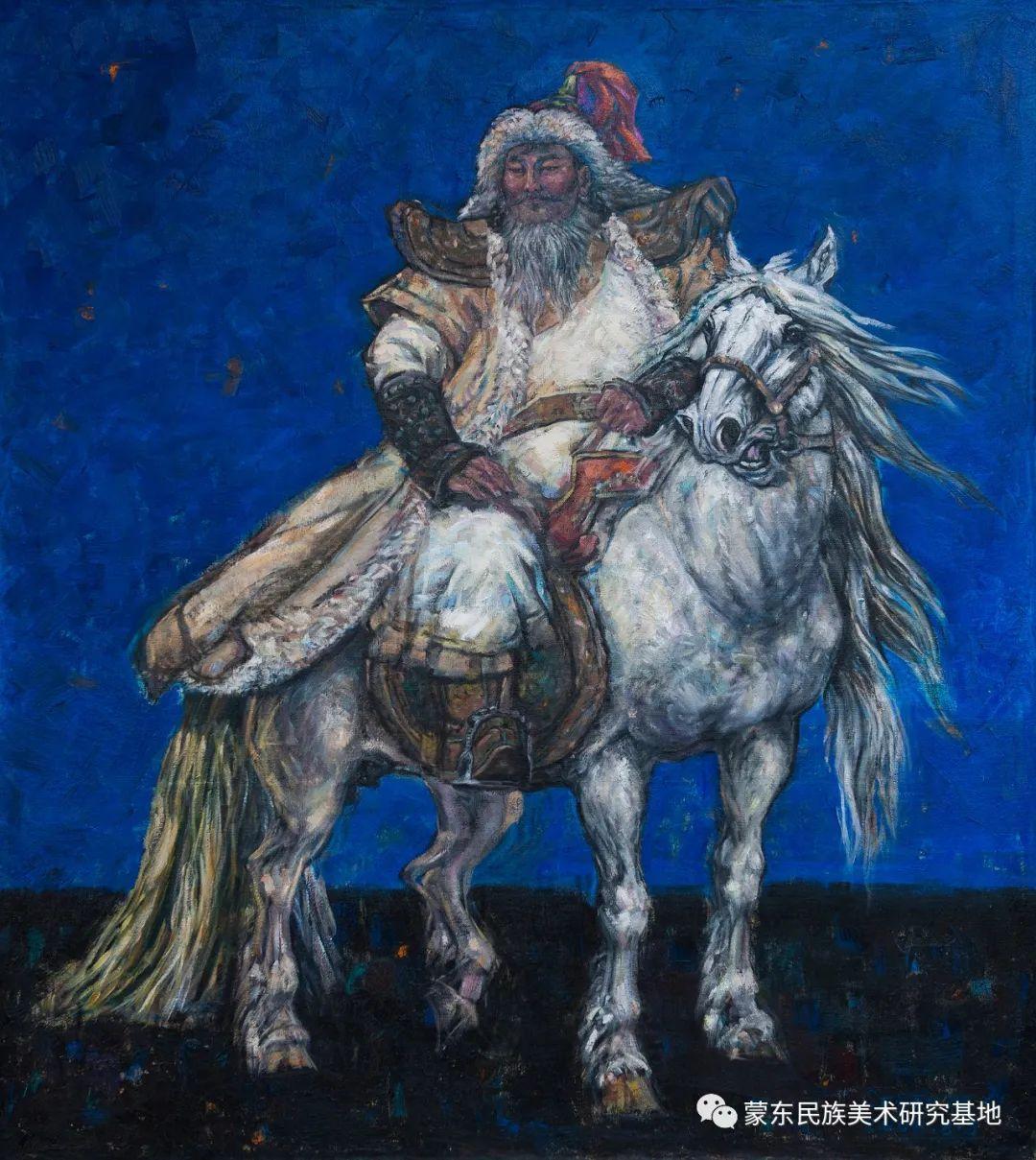 科尔沁首届油画展作品集 第5张 科尔沁首届油画展作品集 蒙古画廊