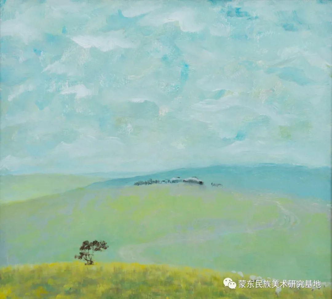 科尔沁首届油画展作品集 第4张 科尔沁首届油画展作品集 蒙古画廊