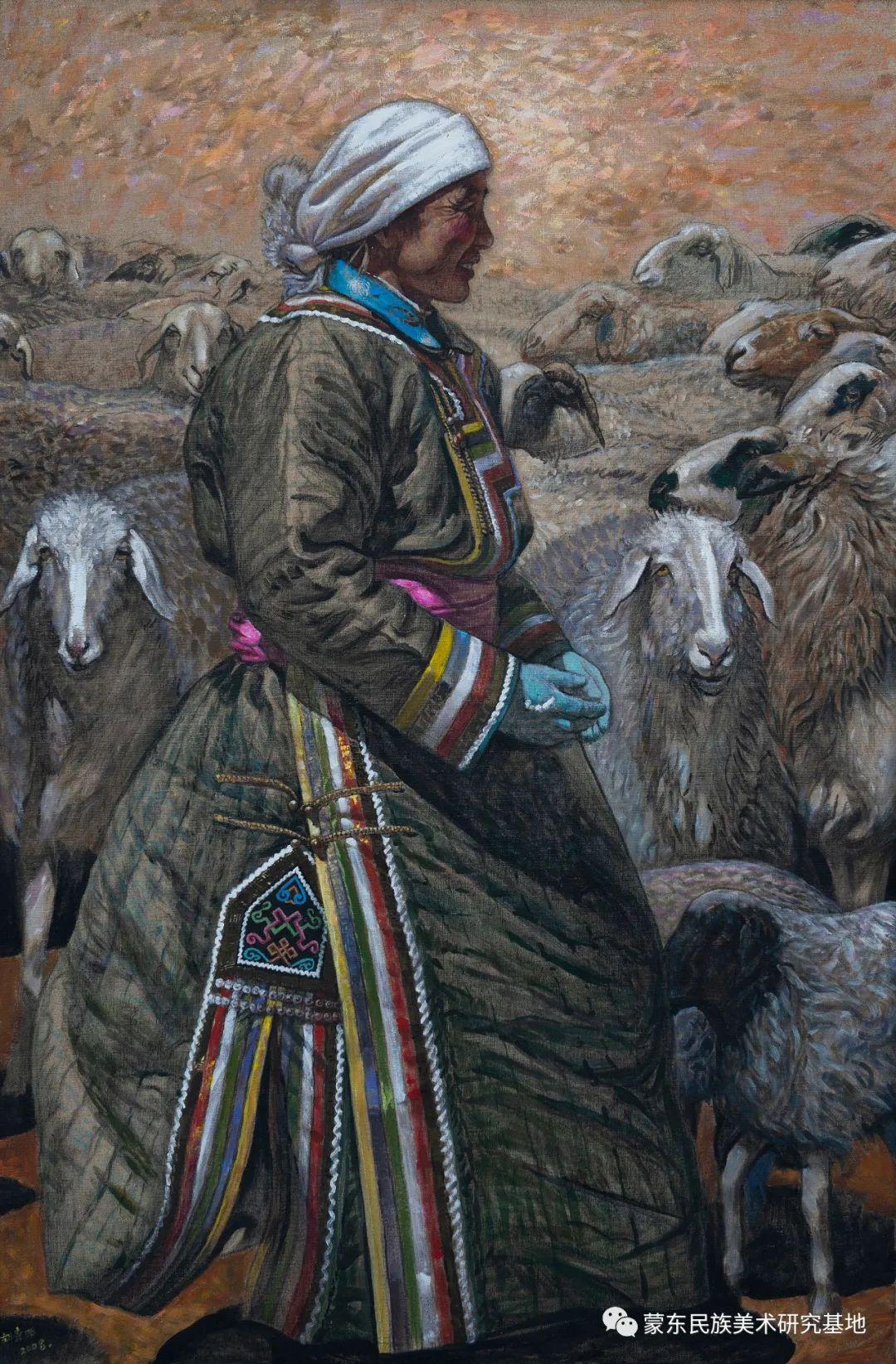 科尔沁首届油画展作品集 第10张 科尔沁首届油画展作品集 蒙古画廊