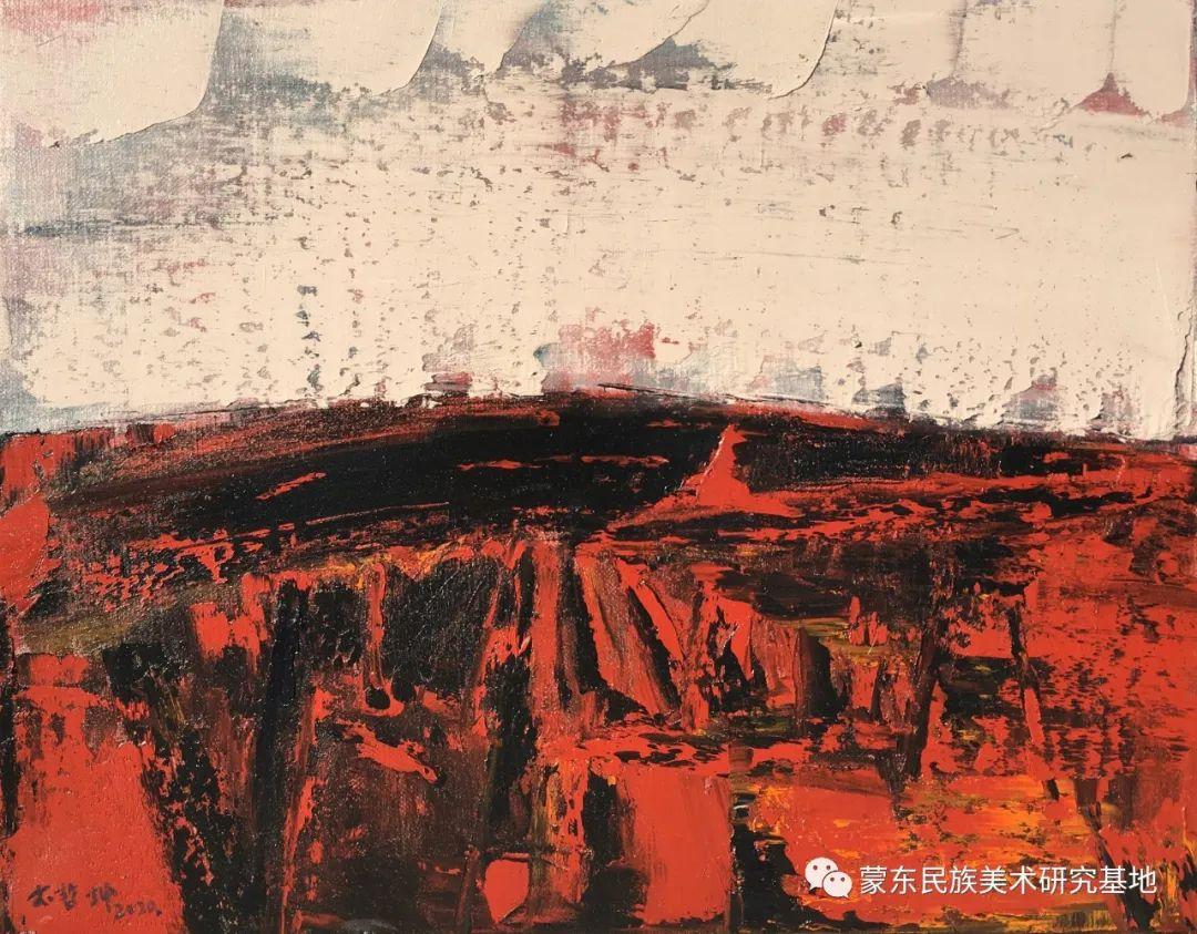 科尔沁首届油画展作品集 第15张 科尔沁首届油画展作品集 蒙古画廊