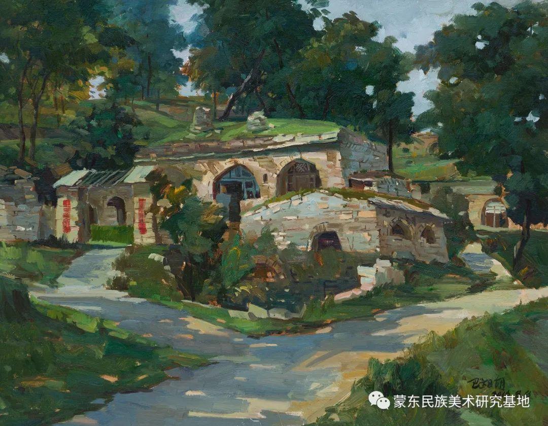 科尔沁首届油画展作品集 第17张 科尔沁首届油画展作品集 蒙古画廊