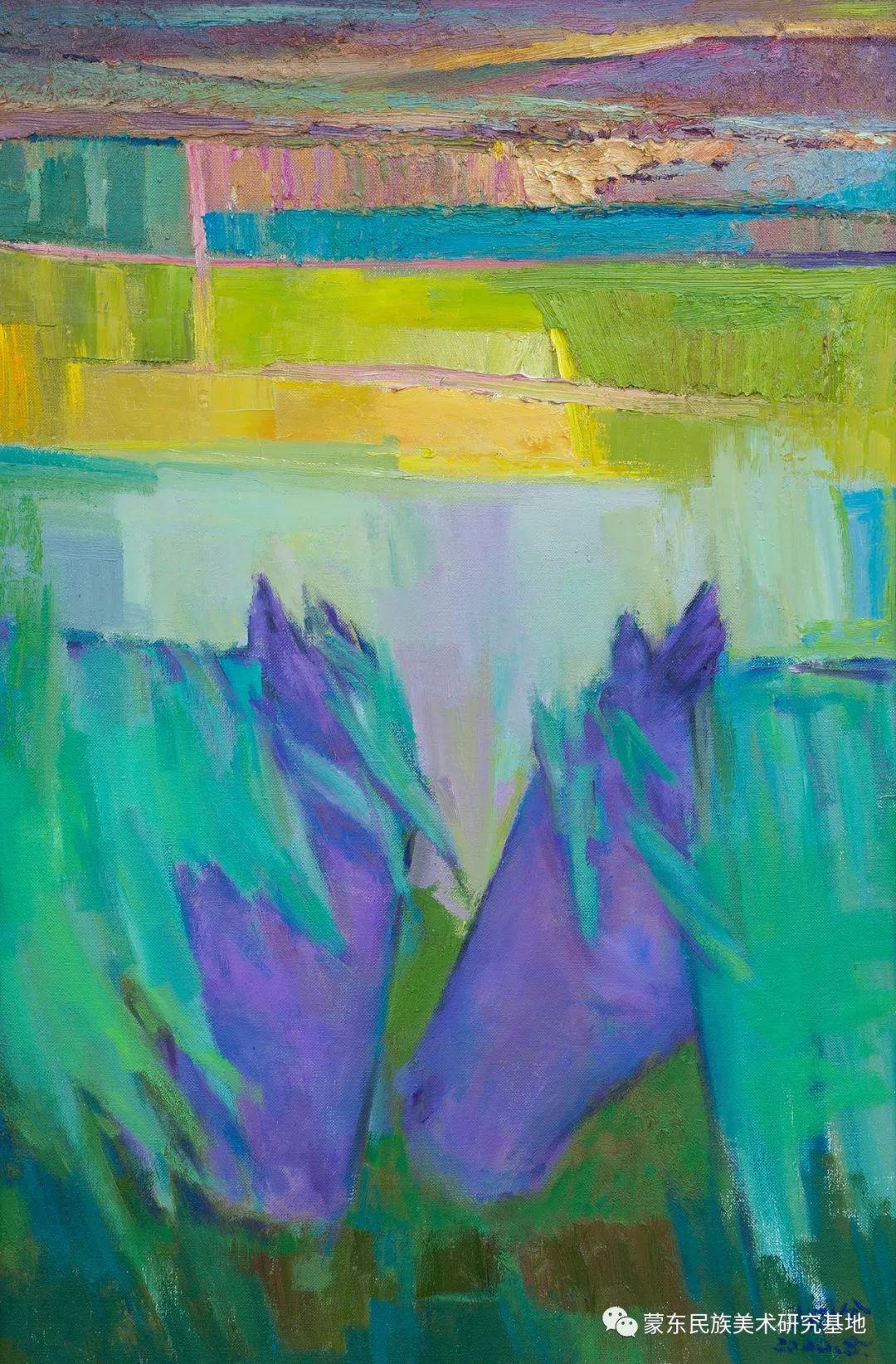 科尔沁首届油画展作品集 第20张 科尔沁首届油画展作品集 蒙古画廊