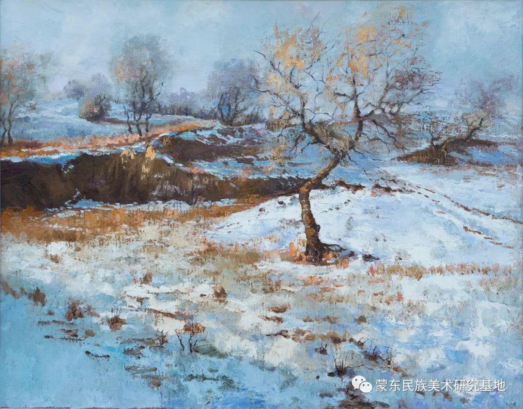 科尔沁首届油画展作品集 第21张 科尔沁首届油画展作品集 蒙古画廊