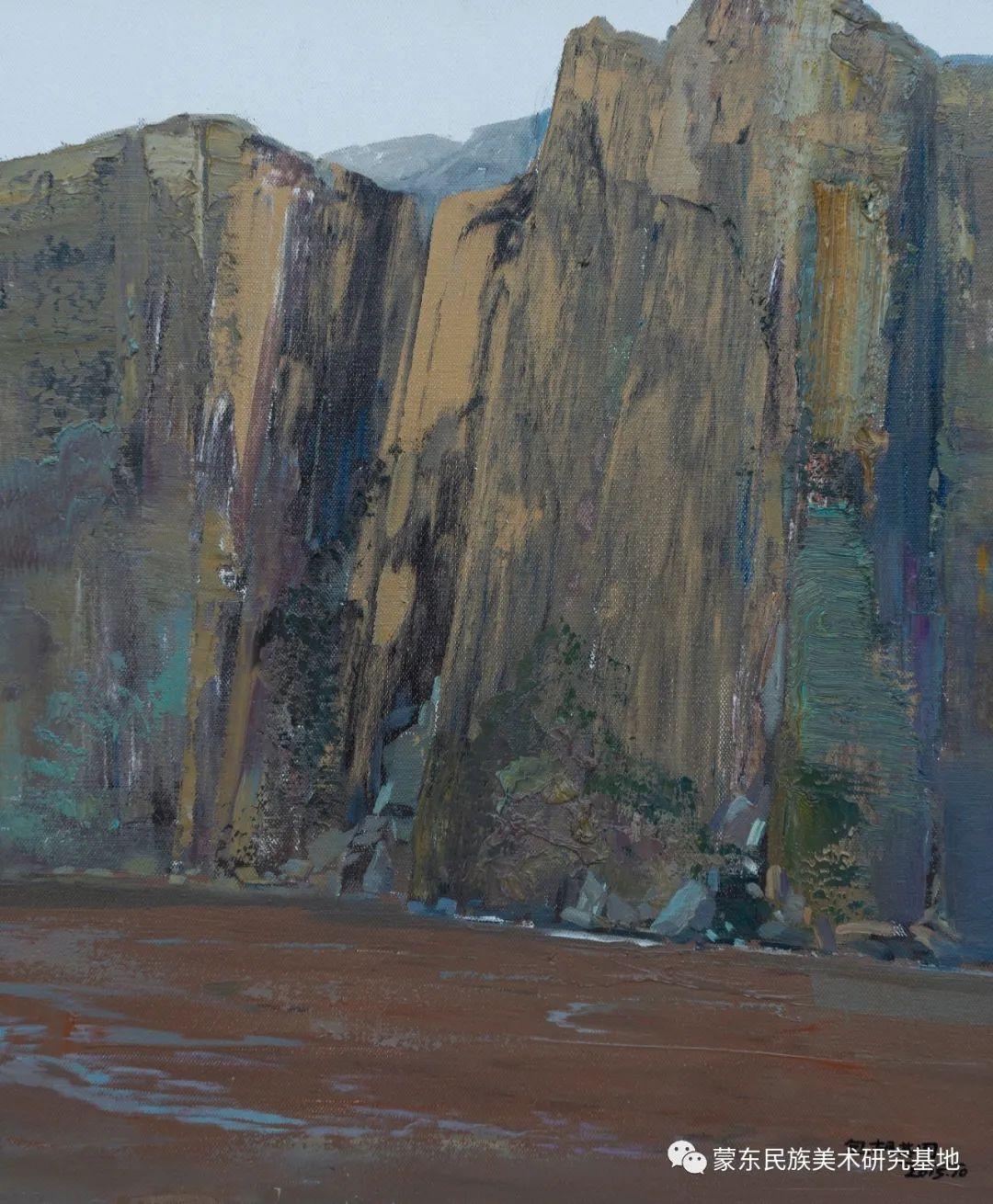 科尔沁首届油画展作品集 第24张 科尔沁首届油画展作品集 蒙古画廊
