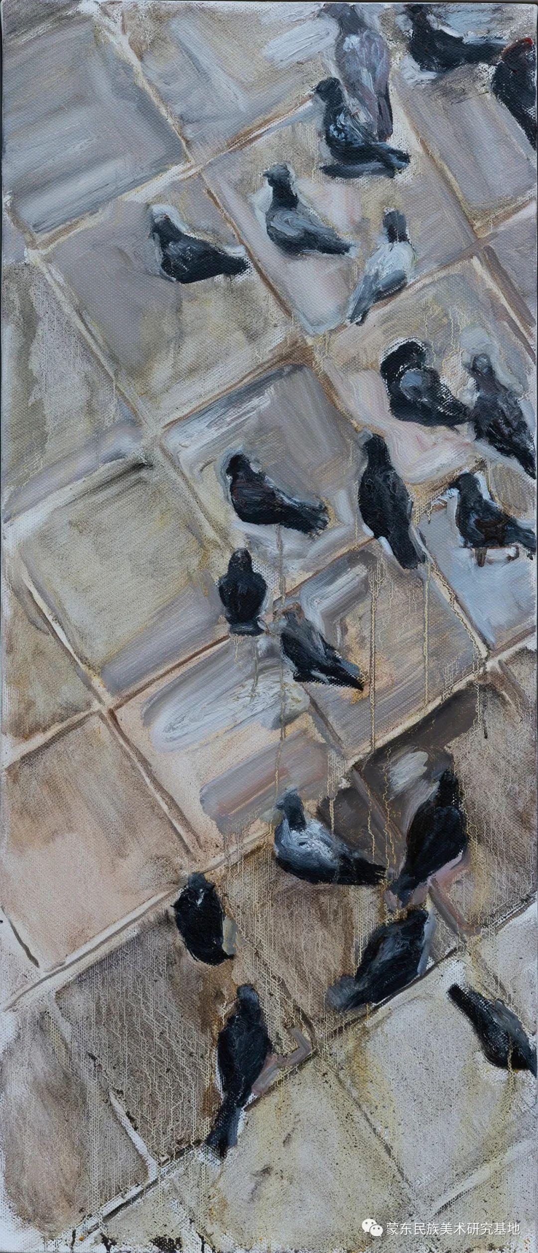 科尔沁首届油画展作品集 第25张 科尔沁首届油画展作品集 蒙古画廊
