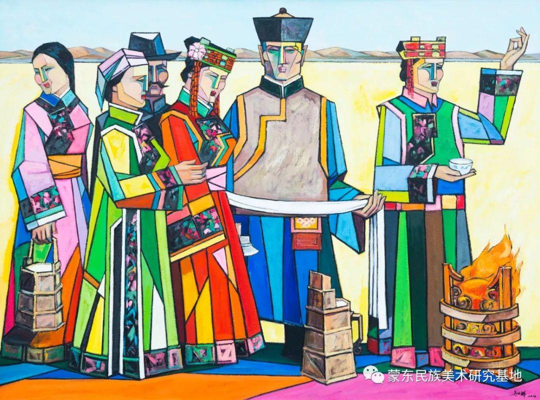 科尔沁首届油画展作品集 第30张 科尔沁首届油画展作品集 蒙古画廊