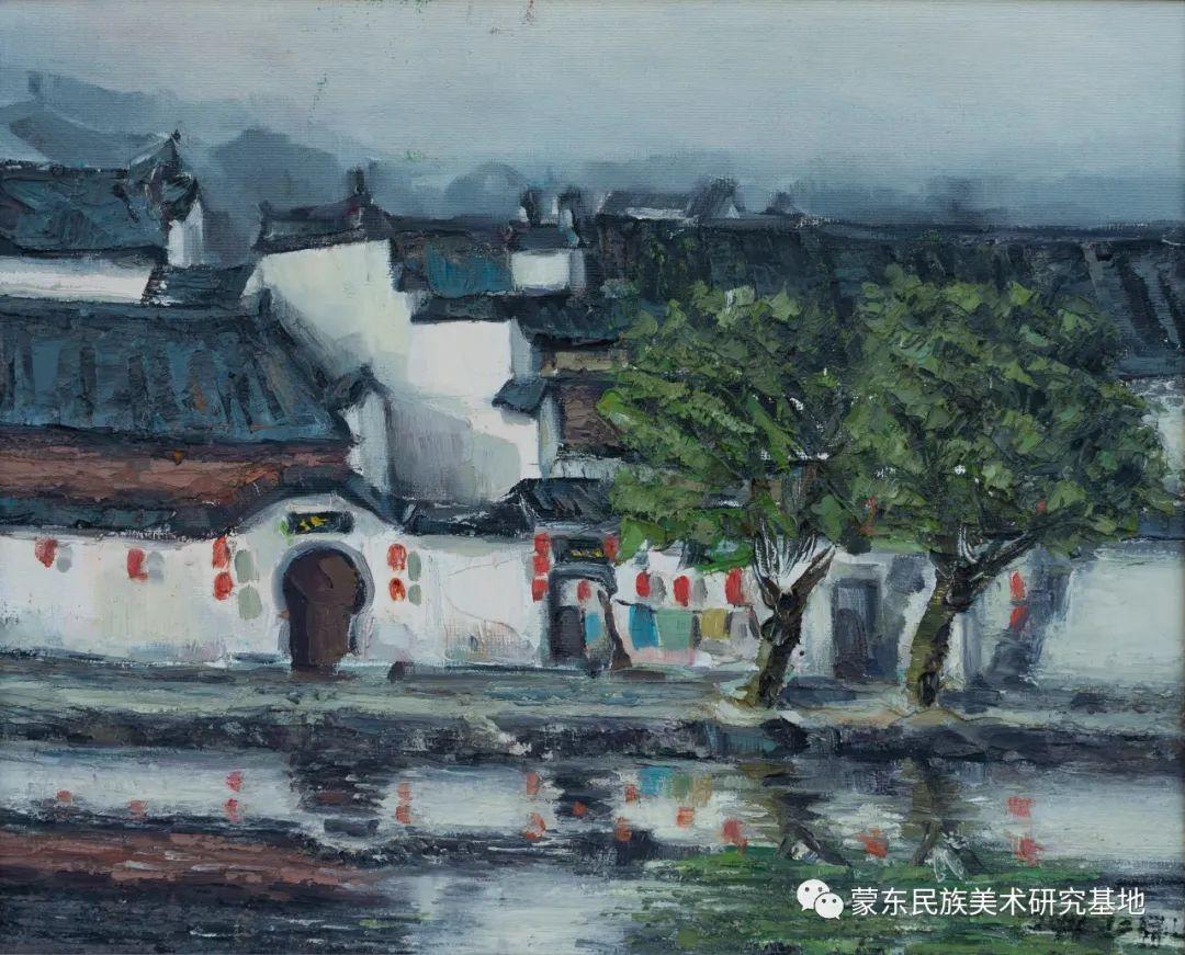 科尔沁首届油画展作品集 第31张 科尔沁首届油画展作品集 蒙古画廊