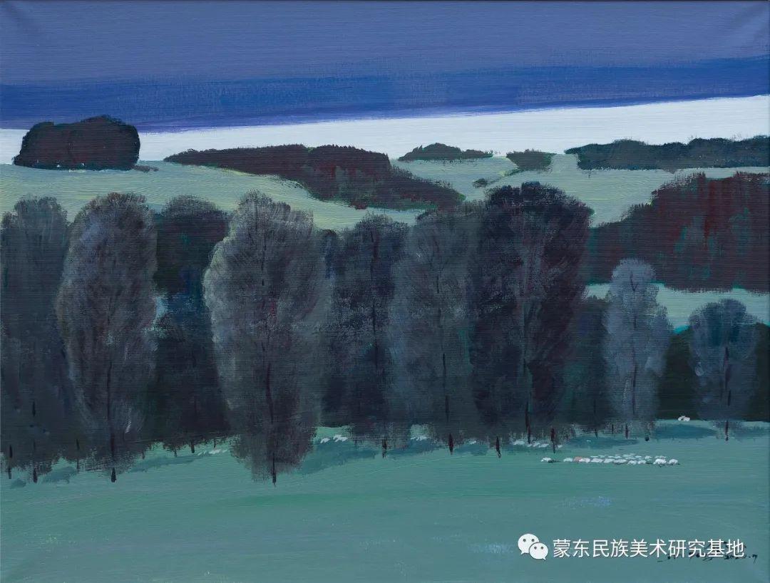 科尔沁首届油画展作品集 第38张 科尔沁首届油画展作品集 蒙古画廊