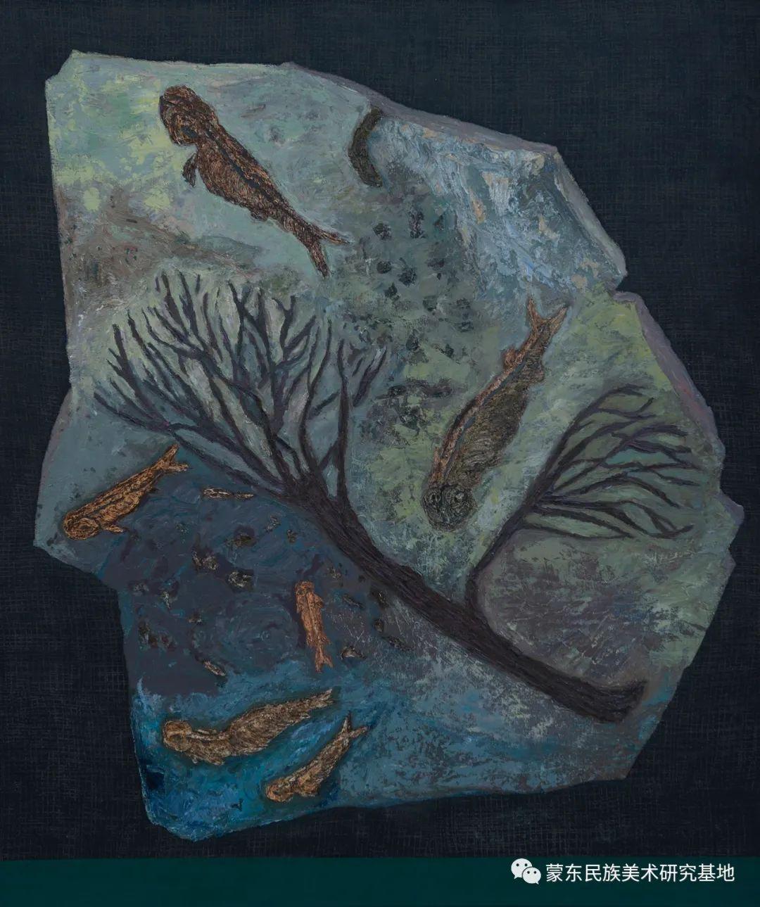 科尔沁首届油画展作品集 第48张 科尔沁首届油画展作品集 蒙古画廊