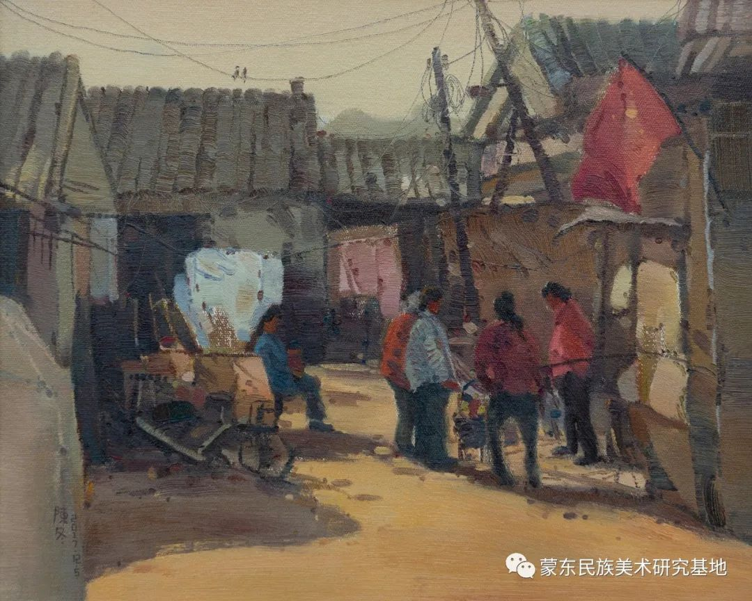 科尔沁首届油画展作品集 第51张 科尔沁首届油画展作品集 蒙古画廊