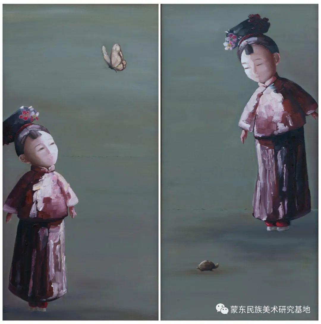 科尔沁首届油画展作品集 第61张 科尔沁首届油画展作品集 蒙古画廊