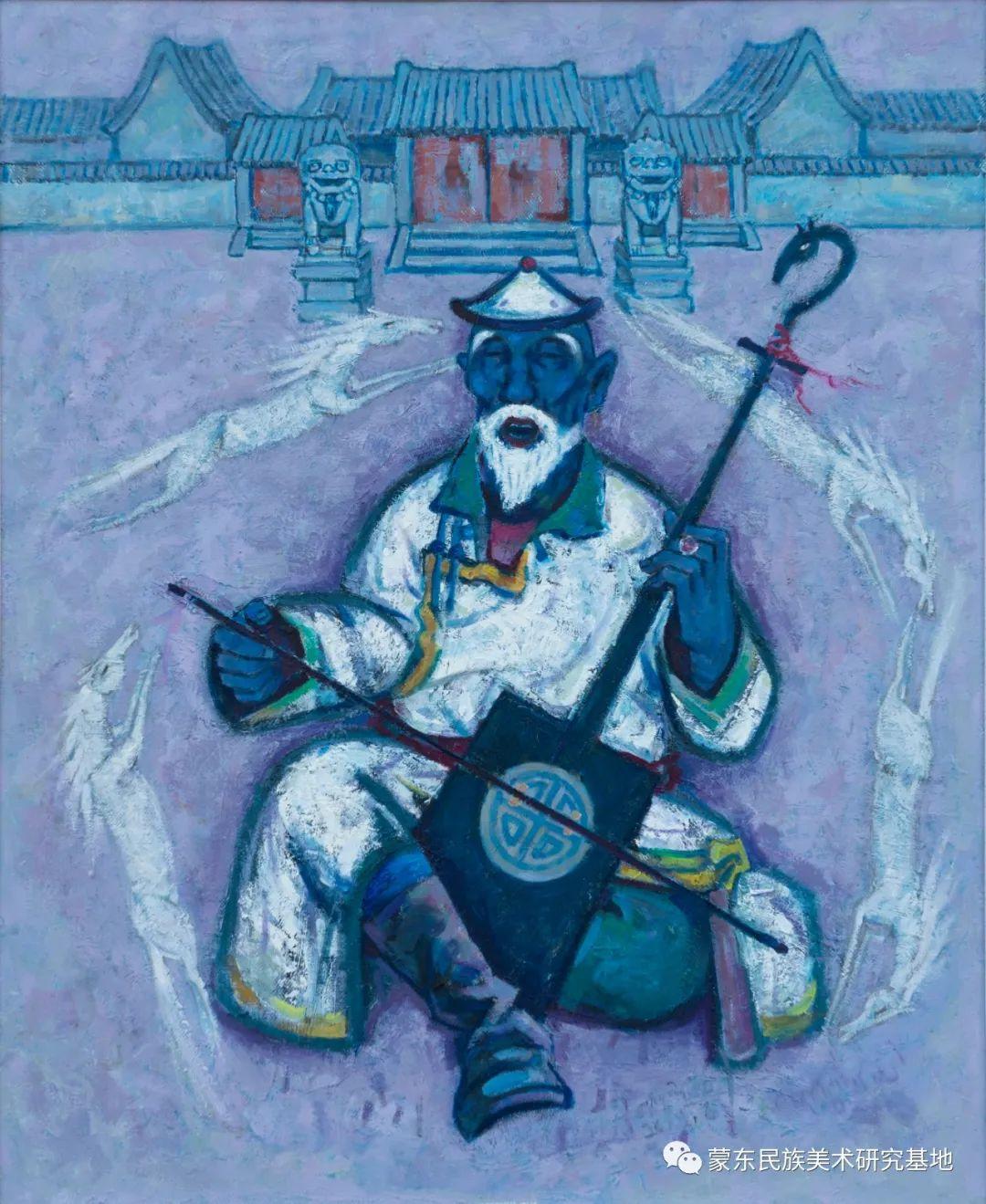 科尔沁首届油画展作品集 第64张 科尔沁首届油画展作品集 蒙古画廊