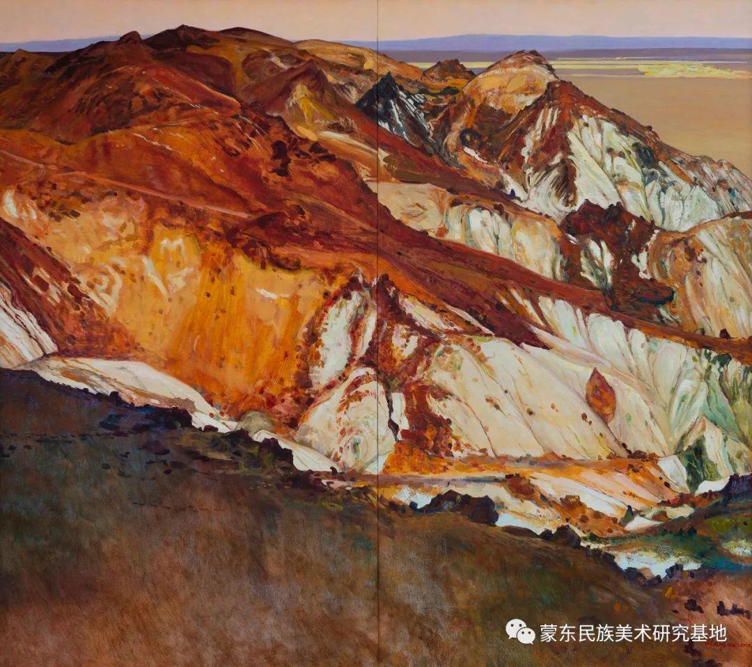 科尔沁首届油画展作品集 第63张 科尔沁首届油画展作品集 蒙古画廊