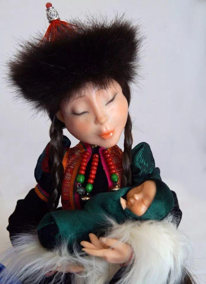 布里亚特美女制作的蒙古布娃娃,太可爱了! 第10张 布里亚特美女制作的蒙古布娃娃,太可爱了! 蒙古工艺