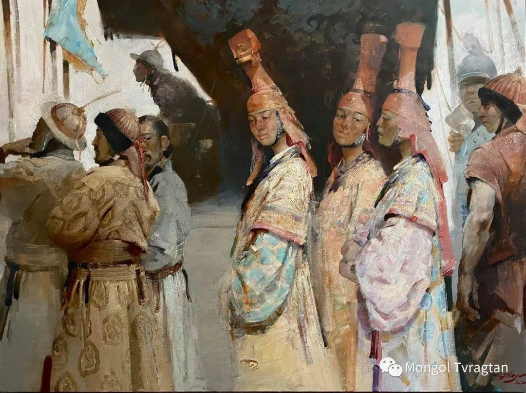 蒙古国油画家-敖特根道部单