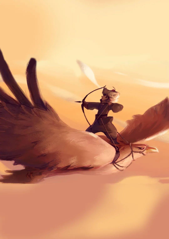 分享蒙古手绘插画
