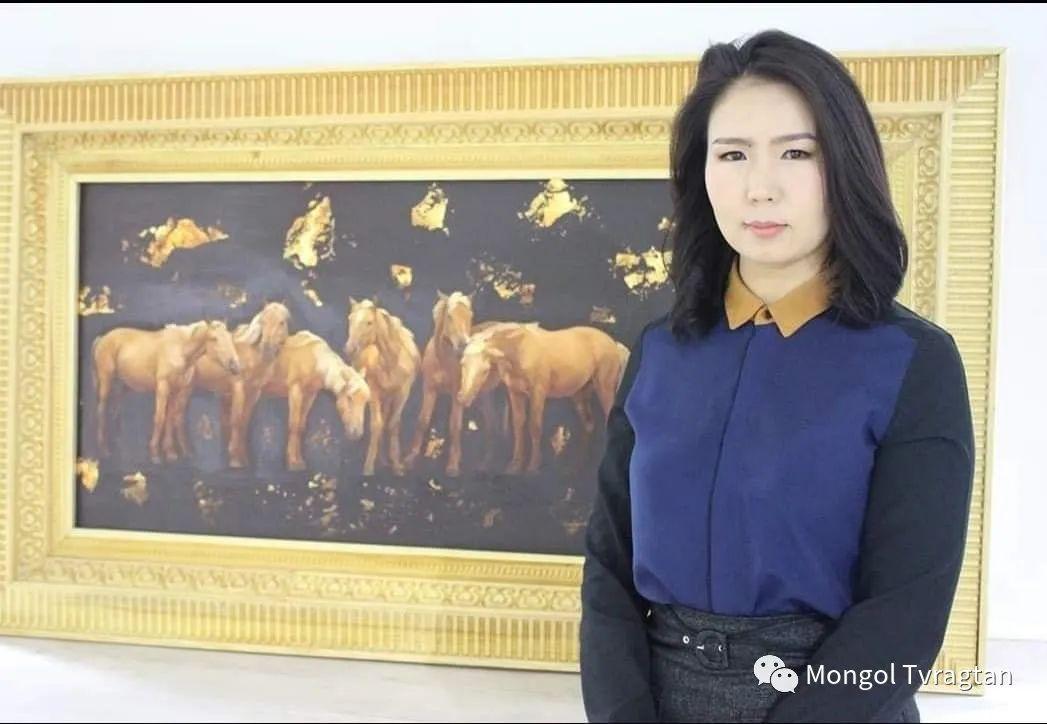 蒙古国画家-勒 巴雅尔琪琪格作品