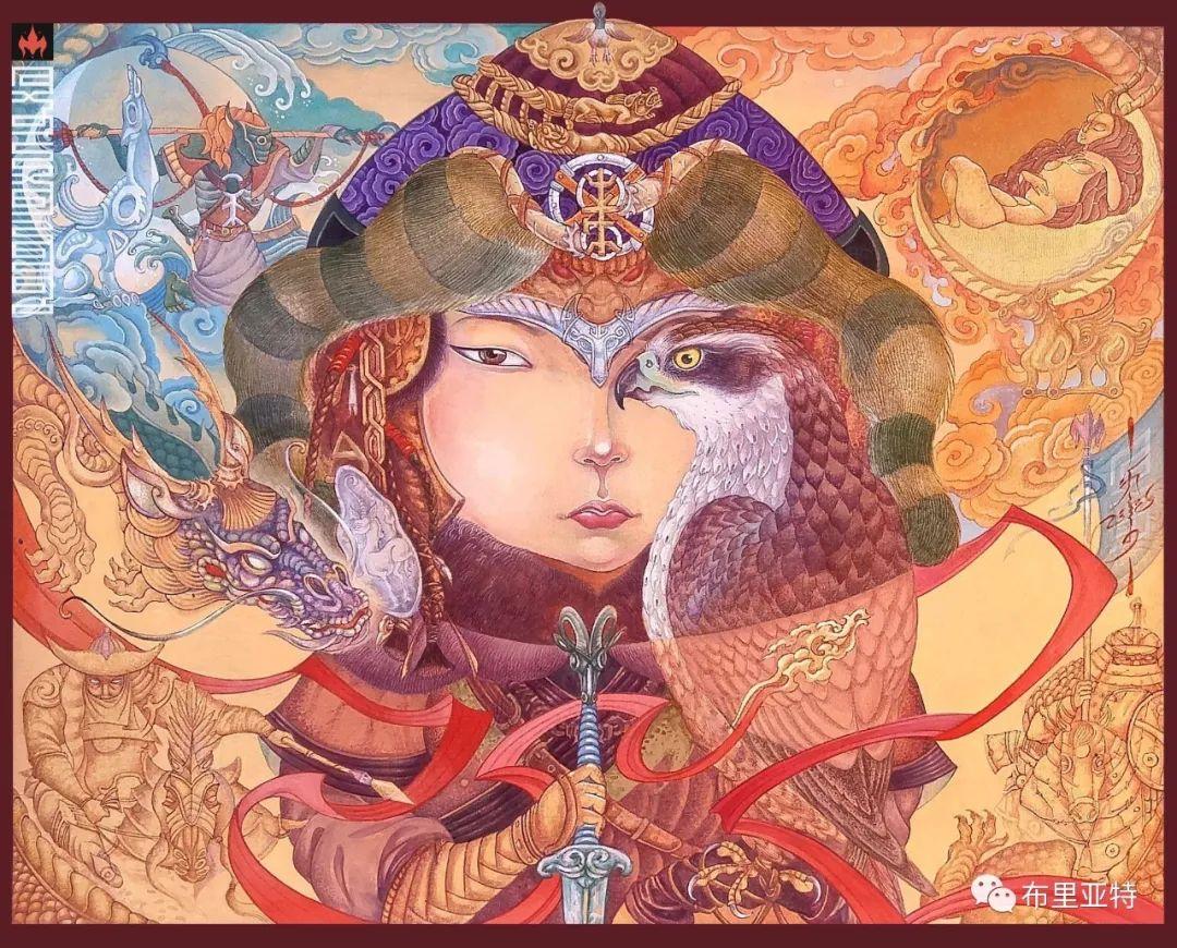 蒙古国90后画家创作绘画功力堪比大师级