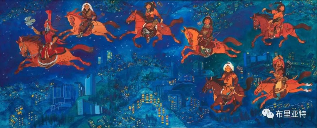 天马行空的蒙古女画家诺尔玛扎布作品欣赏