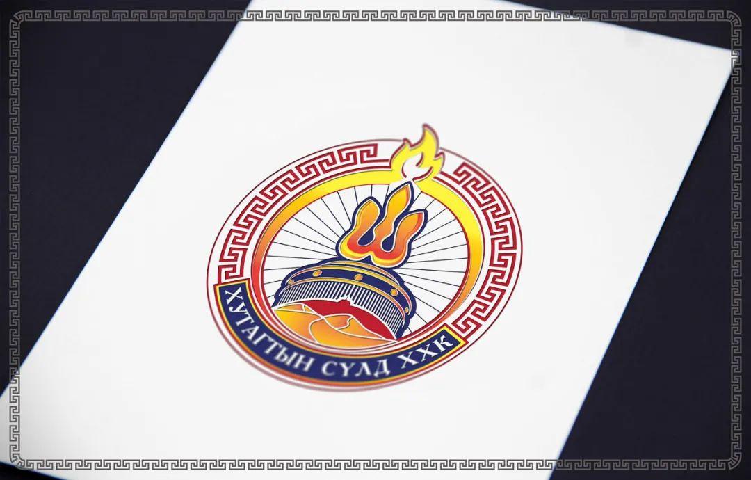 金色蒙古徽标设计